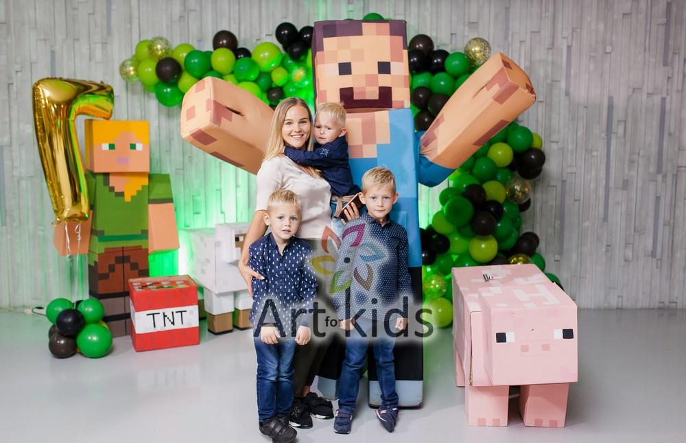 Детский праздник в стиле Майнкрафт